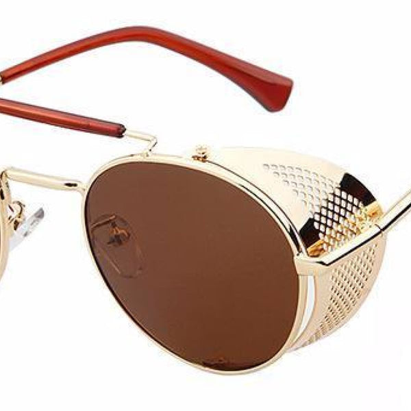 Metal Shield Steampunk Sunglasses A2 Steampunk Sunglasses