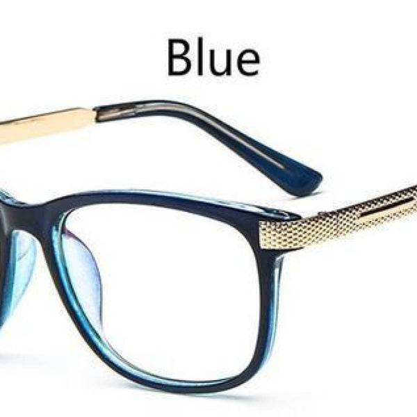 Myopia Retro Vintage Anti-Radiation Eyeglasses Optical Glasses Frame Plain Eye Glasses - Oculos De Grau Femininos Blue