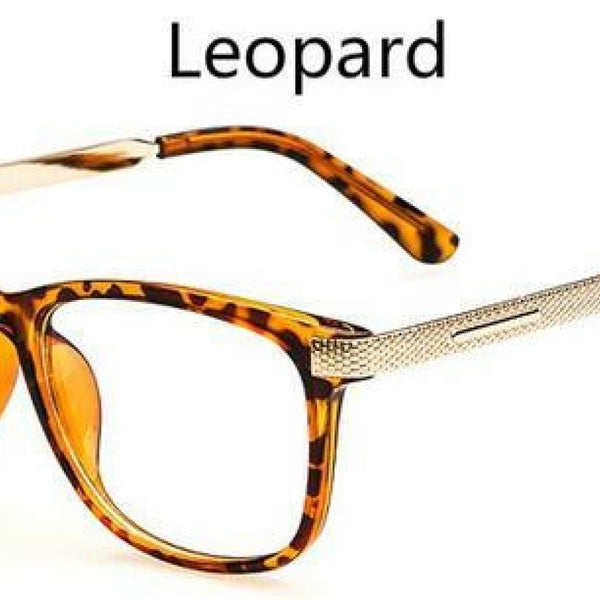 Myopia Retro Vintage Anti-Radiation Eyeglasses Optical Glasses Frame Plain Eye Glasses - Oculos De Grau Femininos Leopard