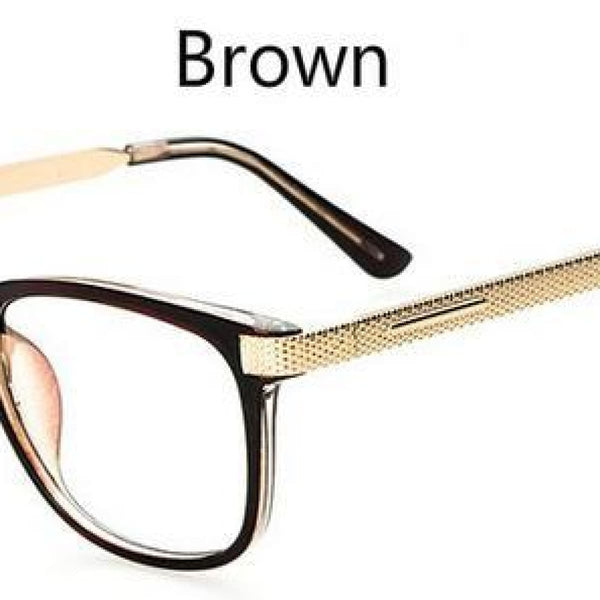 Myopia Retro Vintage Anti-Radiation Eyeglasses Optical Glasses Frame Plain Eye Glasses - Oculos De Grau Femininos Brown