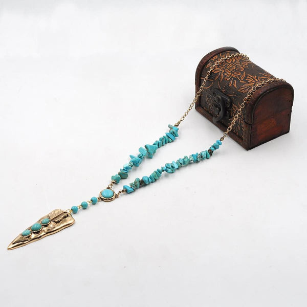 Native American Style Arrowhead Turquoise Necklace Pendant Necklaces