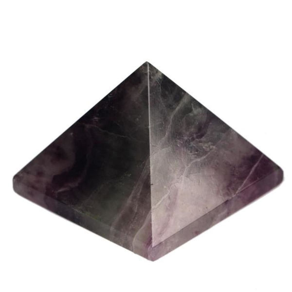 Natural Stone Carved Pyramid Chakra Healing Reiki Crystal Fluorite