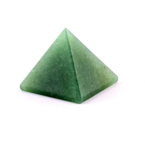 Natural Stone Carved Pyramid Chakra Healing Reiki Crystal Green Aventurine