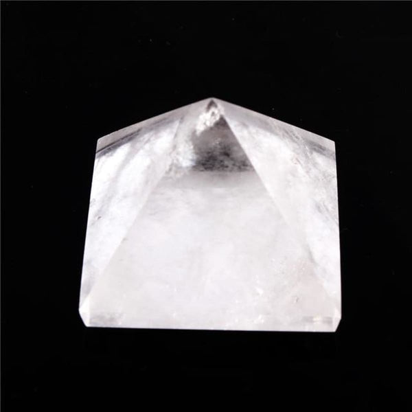 Natural Stone Carved Pyramid Chakra Healing Reiki Crystal Clear Crystal