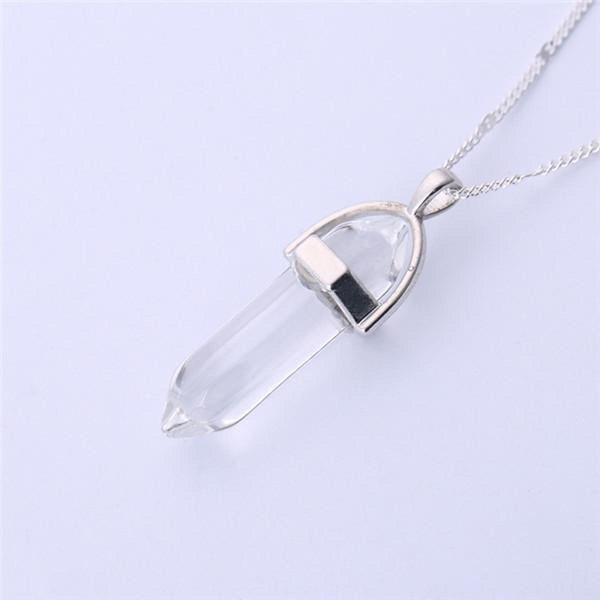 Natural Stone Pendant Bullet Jade Suspension Color Quartz Necklaces & Pendants Fashion Jewelry Choker Necklace Bijoux Chain 13 Pendant