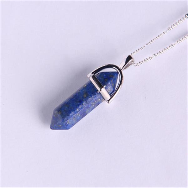 Natural Stone Pendant Bullet Jade Suspension Color Quartz Necklaces & Pendants Fashion Jewelry Choker Necklace Bijoux Chain 7 Pendant