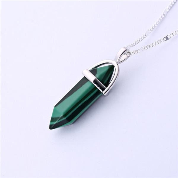 Natural Stone Pendant Bullet Jade Suspension Color Quartz Necklaces & Pendants Fashion Jewelry Choker Necklace Bijoux Chain 9 Pendant