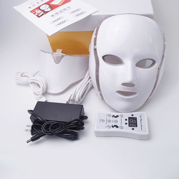 Photon Pro Skin Rejuvenation Kit With Led Light Therapy Mask And Neck Attachment Led Face Mask