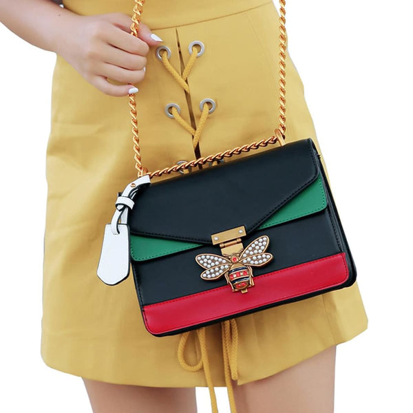 Queen Bee Leather Crossbody Bag Handbag Leather Crossbody Bag