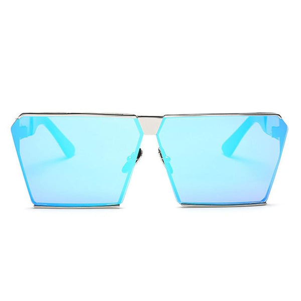 Rg 217 Sunglasses - Newest Design Silver Frame Blue Sunglasses