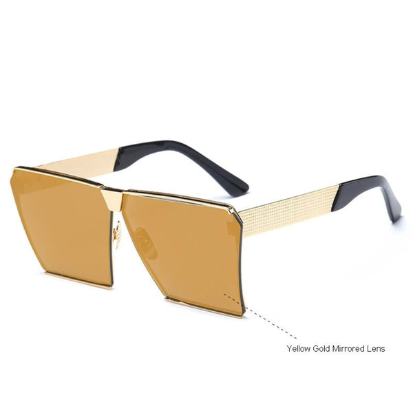 Rg 217 Sunglasses - Newest Design Yellow Gold Mirror Sunglasses
