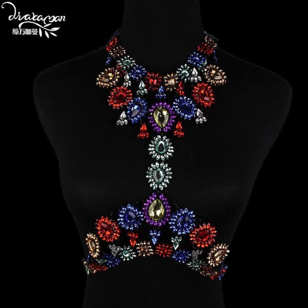 Rhinestone Crystal Choker Body Chain C9 Choker Necklaces