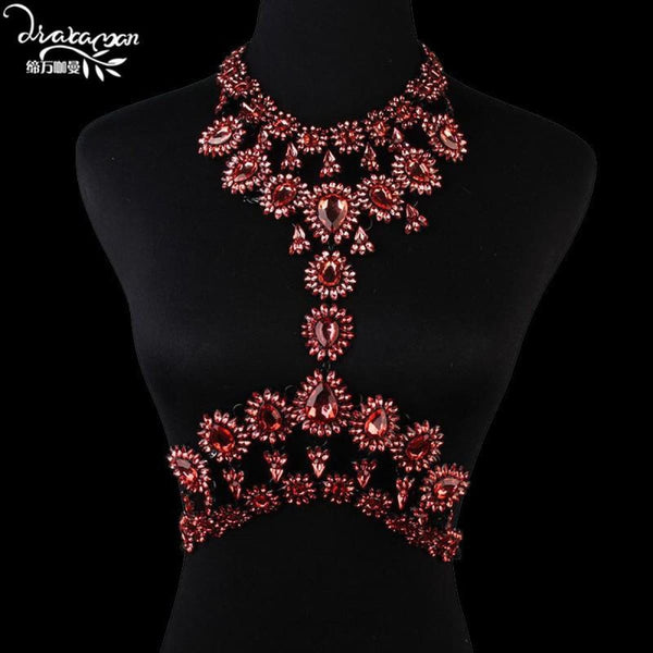 Rhinestone Crystal Choker Body Chain C14 Choker Necklaces