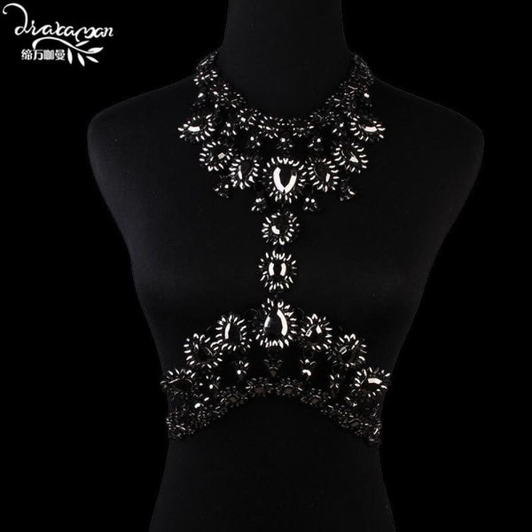 Rhinestone Crystal Choker Body Chain C13 Choker Necklaces