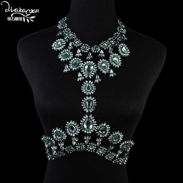Rhinestone Crystal Choker Body Chain C11 Choker Necklaces