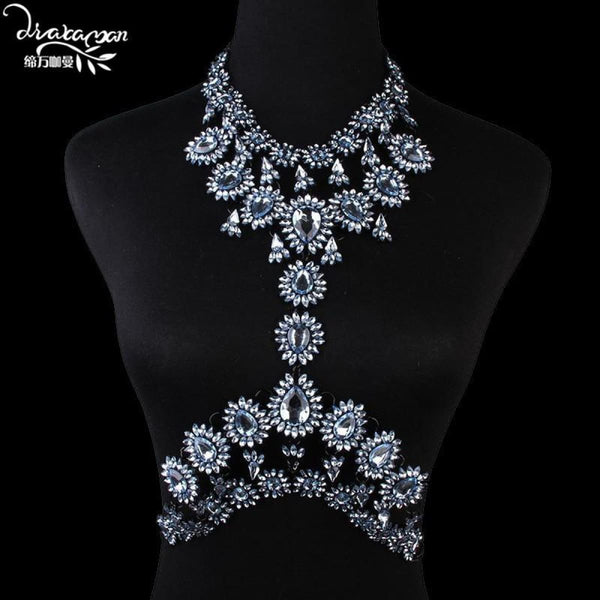 Rhinestone Crystal Choker Body Chain C8 Choker Necklaces