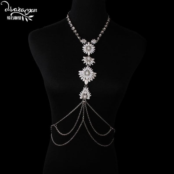 Rhinestone Crystal Choker Body Chain Choker Necklaces