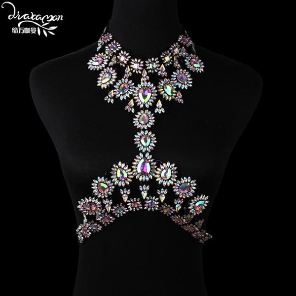 Rhinestone Crystal Choker Body Chain C7 Choker Necklaces
