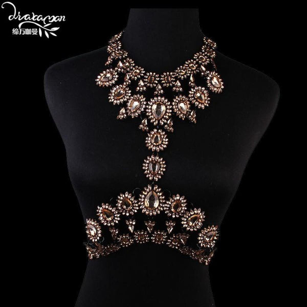 Rhinestone Crystal Choker Body Chain C12 Choker Necklaces