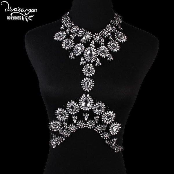Rhinestone Crystal Choker Body Chain C10 Choker Necklaces