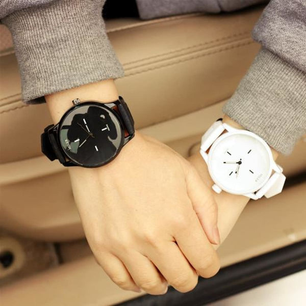 Soft Silicone Strap Jelly Quartz Watch For Women Lovers Black White Wristwatch Womens Watches
