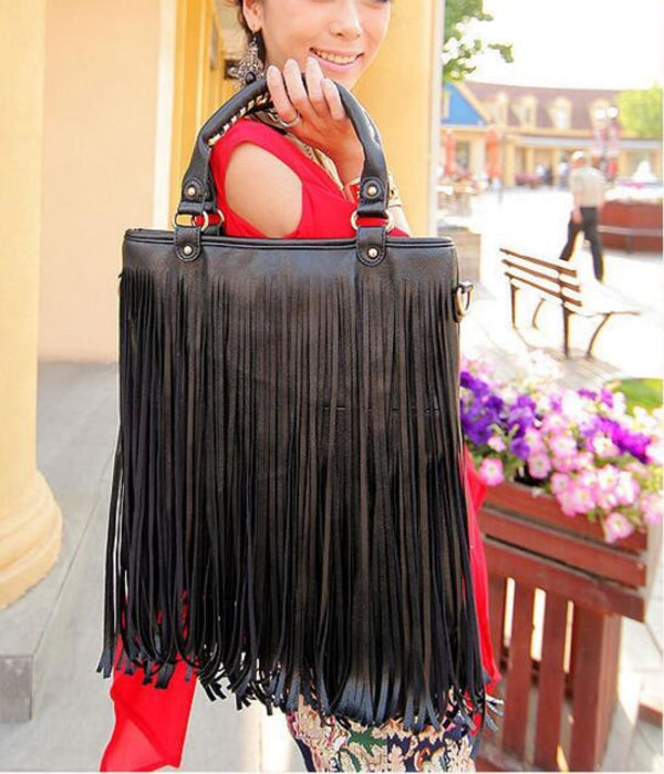 Tassel Fringe Crossbody Messenger Bag Bohemian Handbag