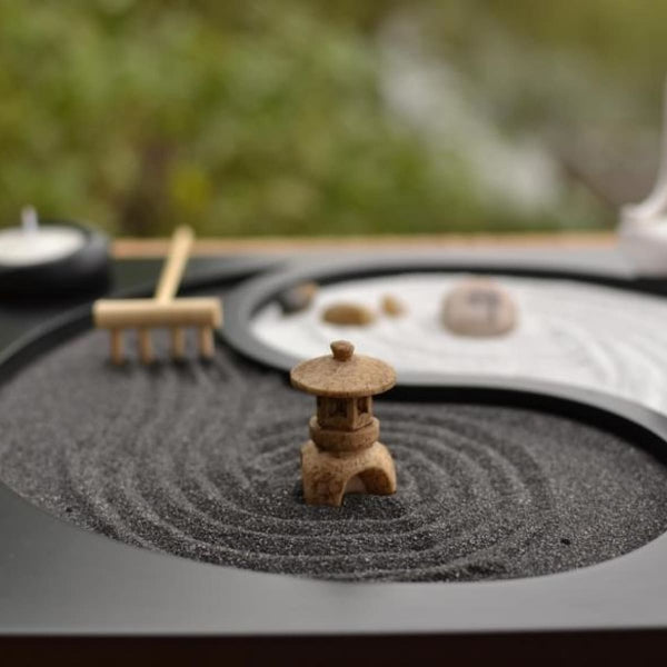 The Exhibition Art Zen Yoga Sand Plate Candle Holders