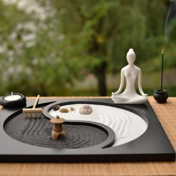 The Exhibition Art Zen Yoga Sand Plate 1 Candle Holders