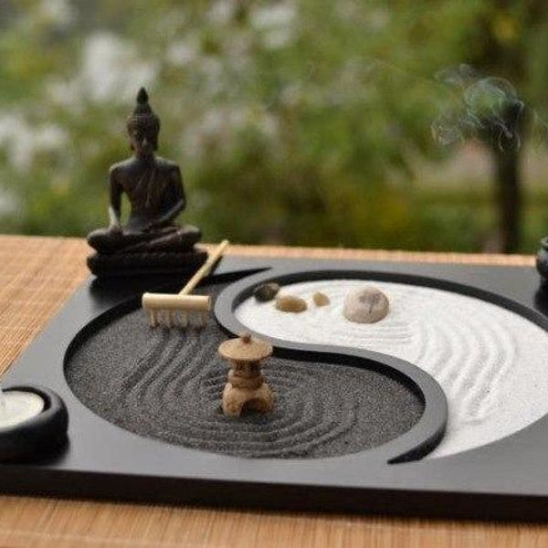 The Exhibition Art Zen Yoga Sand Plate 2 Candle Holders