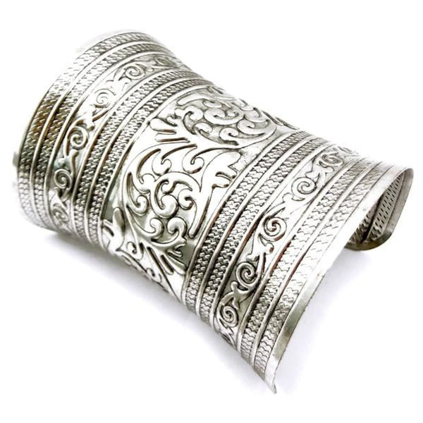 Tibetan Style Wide Cuff Bangle