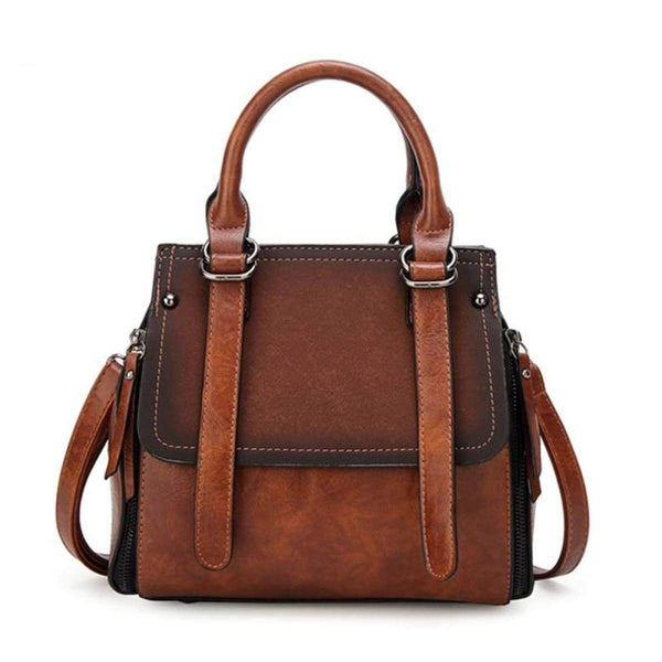 Tinki Panelled Vintage Tote Messenger Bag Handbag