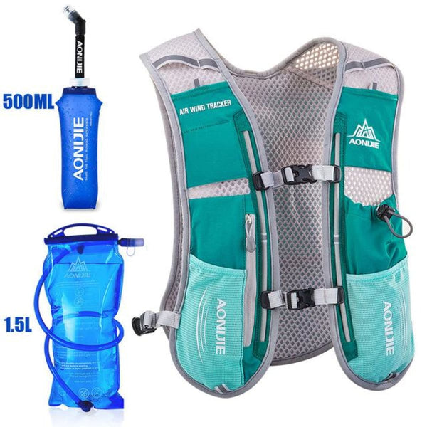 Tripack Hydration Pack Marathon Racing Vest Hiking Cycling Trail Running Backpack Turquoise Running Vest Backpack