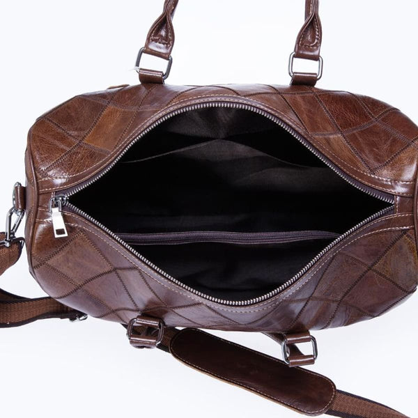West L Genuine Leather Weekender Duffle Bag Leather Weekender Bag