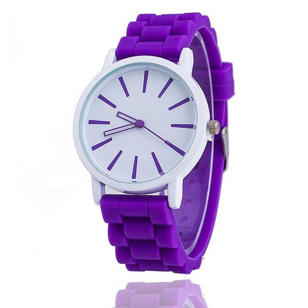 Womens Silicone Fashion Watch Hot Casual Quartz Watch - Relogio Feminino Montre Femme - Sale Purple Womens Watches