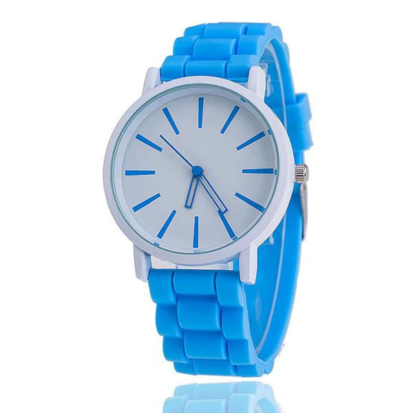 Womens Silicone Fashion Watch Hot Casual Quartz Watch - Relogio Feminino Montre Femme - Sale Light Blue Womens Watches