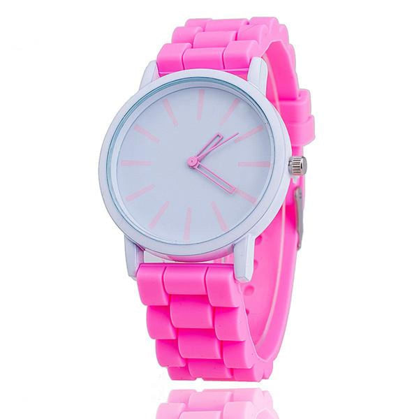 Womens Silicone Fashion Watch Hot Casual Quartz Watch - Relogio Feminino Montre Femme - Sale Pink Womens Watches