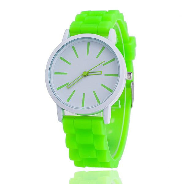 Womens Silicone Fashion Watch Hot Casual Quartz Watch - Relogio Feminino Montre Femme - Sale Green Womens Watches