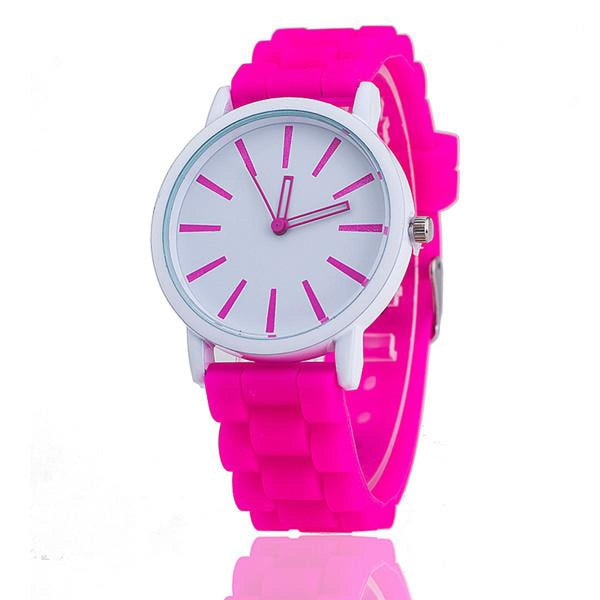 Womens Silicone Fashion Watch Hot Casual Quartz Watch - Relogio Feminino Montre Femme - Sale Rose Womens Watches