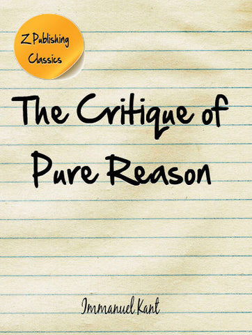 Critique of Pure Reason (PDF)