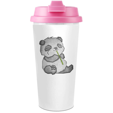 Cute Panda Plastic Travel Coffee Cup - 450 ml - Enjoy Your Drinks Everywhere