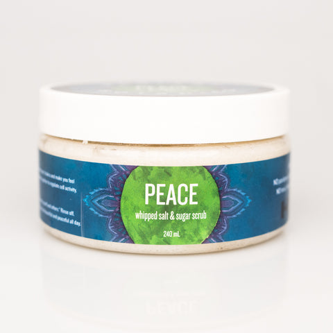 PEACE whipped salt & sugar scrub - 240ml
