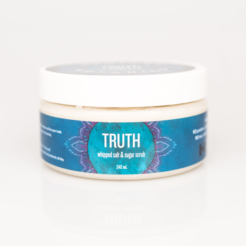 TRUTH whipped salt & sugar scrub - 240ml