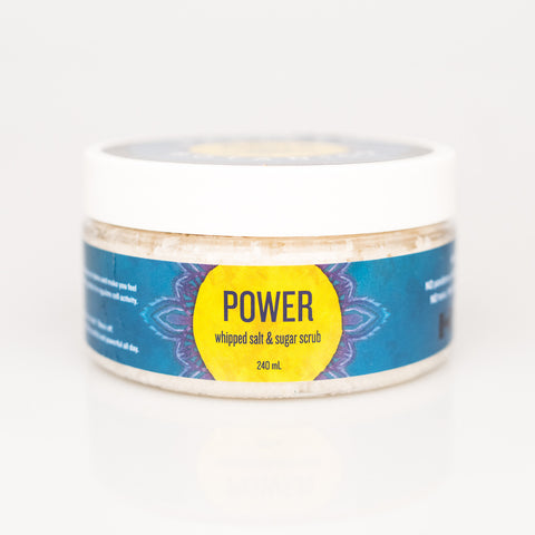 POWER whipped salt & sugar scrub - 240ml