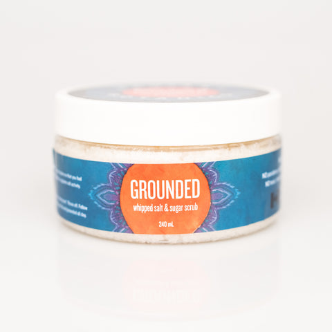 GROUNDED whipped salt & sugar scrub - 240ml