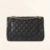 Chanel | Black Caviar Classic Double Flap with Gold Hardware | Jumbo