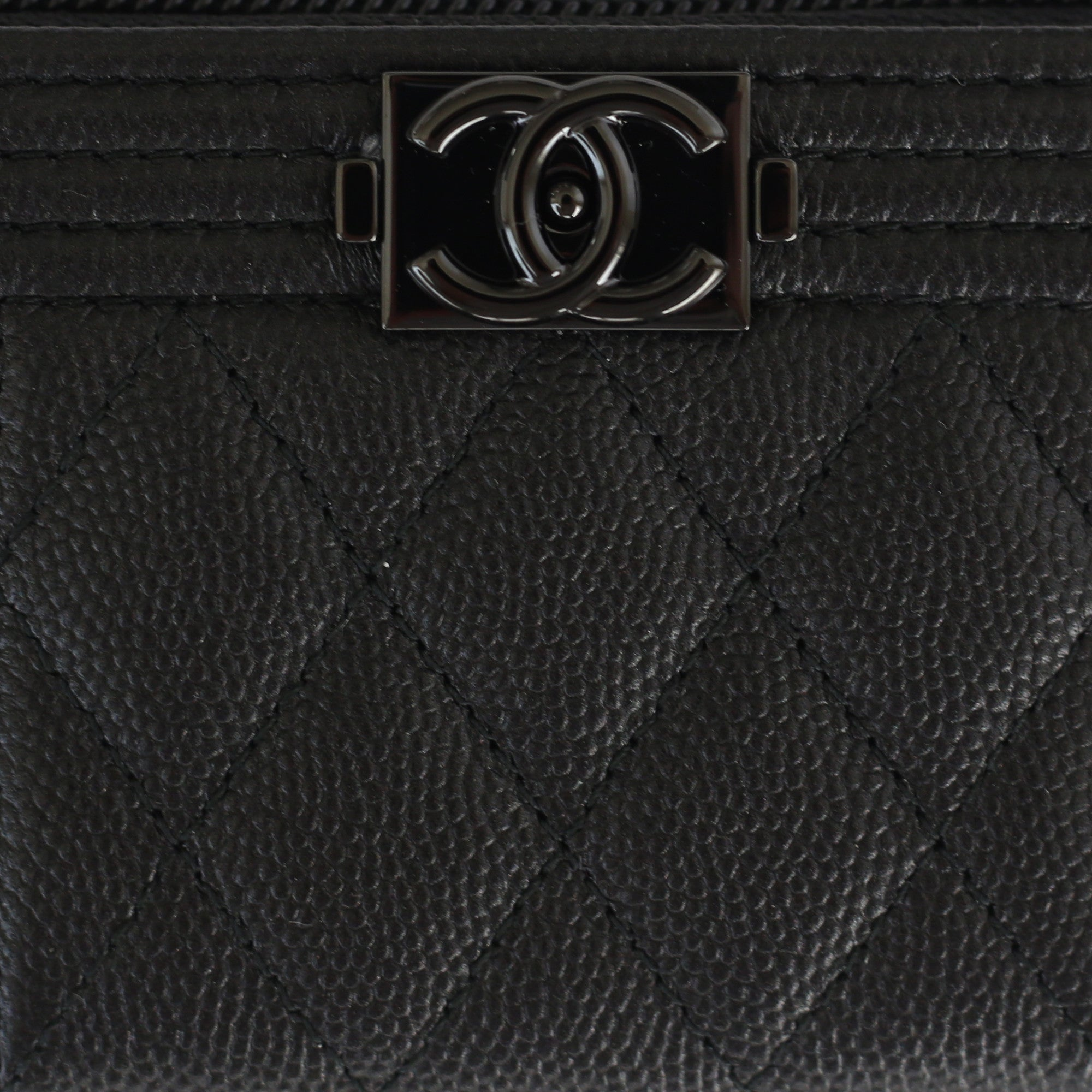 5a525d5b1003 Chanel | So Black Caviar Boy Coin Pouch | One-Size - The-Collectory