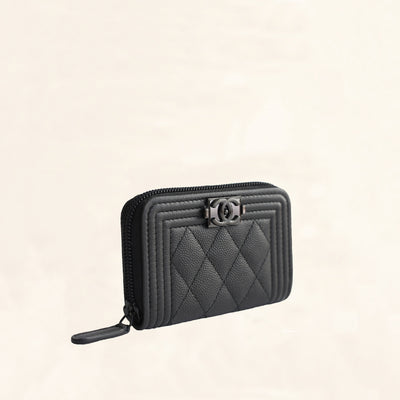 Chanel | So Black Caviar Boy Coin Pouch | One-Size - The-Collectory