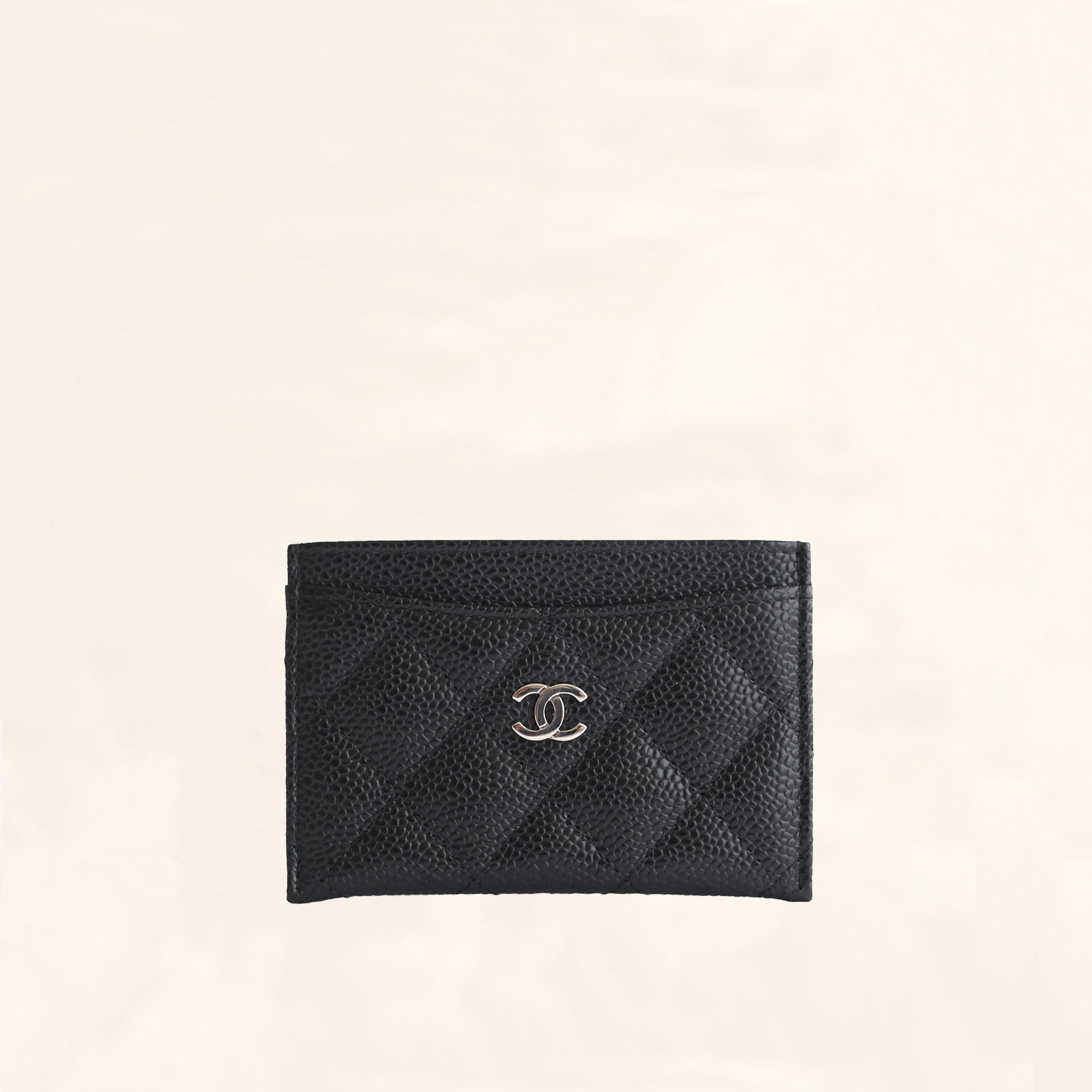 77c2dd7d39cc Chanel | Caviar Card Holder with SHW | One Size - The-Collectory