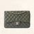 Chanel | Olive Green Calfskin Classic Double Flap | Jumbo