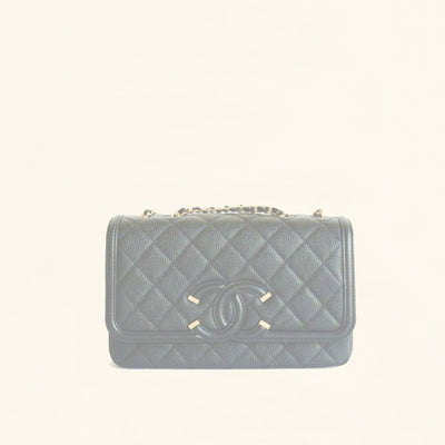 Chanel | Caviar SS16 Quilted Filigree Flap Bag | Small - The-Collectory